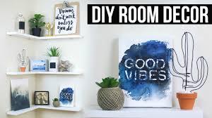 diy floating shelves room decor pinterest inspired youtube