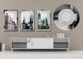 2017 cheap large framed art home decor wall paintings 3 panel wall