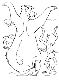 jungle book coloring pages 6 colouring pages kids