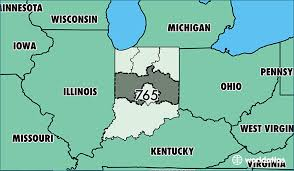 michigan area code map where is area code 765 map of area code 765 lafayette in area