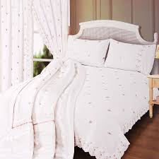 sophie white lace double duvet cover and pillowcase set co uk kitchen home