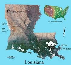 louisiana geographical map nw louisiana mollusk features figures