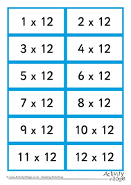 3times Table 3 Times Table Flash Cards