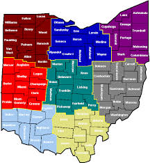 map of counties in ohio map of counties ohio clerk of courts association