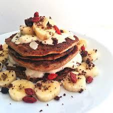 healthy vegan carrot cake protein pancakes
