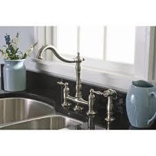 Bridge Faucet Bathroom by Brushed Nickel Kitchen Faucets You U0027ll Love Wayfair
