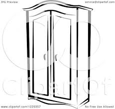 White Wardrobe Closet Clipart Of A Black And White Wardrobe Closet Royalty Free Vector