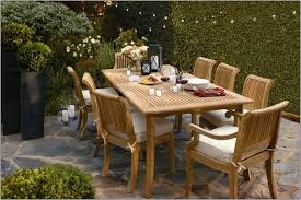 rustic style patio decor with smith and hawken outdoor dining set
