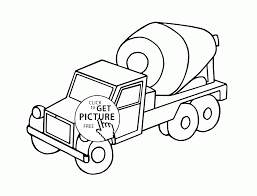 small cement truck coloring page for kids transportation coloring