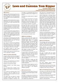 laws and customs yom kippur u2022 crownheights info chabad news