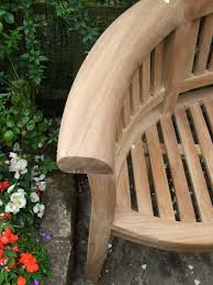 Curved Teak Garden Bench Curved Teak Garden Bench Bali