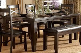 cing chair with table homelegance hawn dining table walnut veneer 2438 82