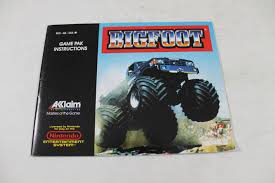 bigfoot monster truck games manual big foot bigfoot nes nintendo monster truck
