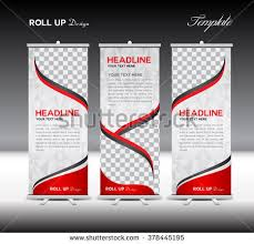 roll up banner template vector illustration download free vector