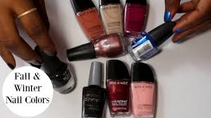 fall and winter nail colors youtube
