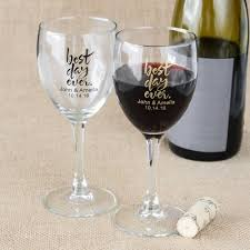 wine glasses for wedding personalized 8 5 oz wine glass
