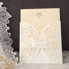 Laser Cut Invitation Cards Diy Laser Cut Vintage Lace Flower Wedding Invitation Template