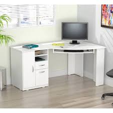 Wooden Corner Desk Top Have Slide Out Drawer For Keyboard by Attractive Desk For Computers Metal Frame Material Glass Desktop