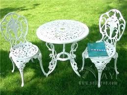 White Patio Furniture Set Cast Iron Patio Furniture Chatel Co