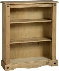 Low Corner Bookcase Furniture Low Pine Distressed Bookcase For Modern Interior Design