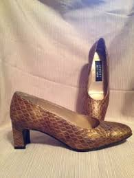 Stuart Weitzman Comfort Stuart Weitzman Comfort Heel Shoes Dark Silver Lame 4 5 B Famous