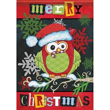 mini merry christmas owl banner flag yankee doodle flag toledo oh