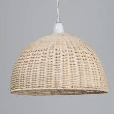 Ceiling Lamp Shades Wicker Dome Easy To Fit Ceiling Light Shade From Litecraft