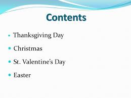 holidays in great britain and the usa contents thanksgiving day