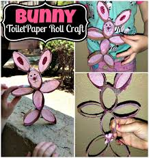 diy toilet paper roll bunny rabbit craft for kids crafty morning