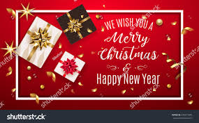 vintage christmas greeting card gifts boxes stock vector 539215345