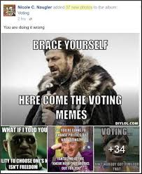 Voting Memes - voting blessed little blog