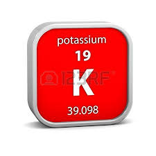 Potassium On Periodic Table Potassium Material On The Periodic Table Part Of A Series Stock