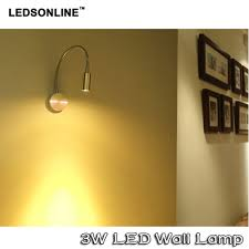 ledsonline 3w led wall sconce lamp silver spotlight reading light