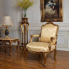 single sofa chair c59 antique gold classic bedroom and living room single sofa chair