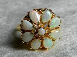 opal ring opal engagement ring antique australian blue opal art