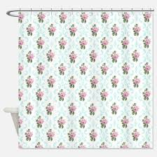 Pink Flower Shower Curtain Country Cottage Shower Curtains Country Cottage Fabric Shower