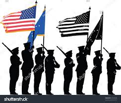 Color Guard Flags Color Guard United States National Flag Stock Vector 37938328