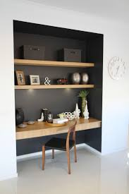 best 25 study nook ideas on pinterest office shelving study study nook somewhere in main living zone like the contrast dark colour and wood detailing