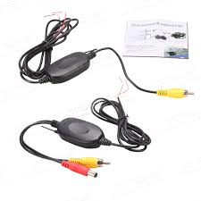 2 4g wireless rca video transmitter u0026 receiver for car reversing