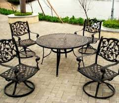 wrought iron patio table and chairs with cool vintage oval wrought