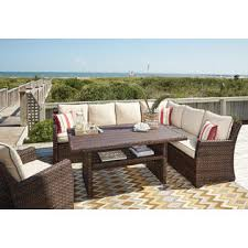 Patio Sectional Ashley Outdoor Furniture Patio Sectional Sofa Chair Table