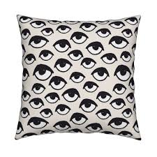 eyes eye fabric creepy scary spooky cute halloween fabric