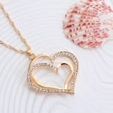 necklace set crystal images Heart shaped crystal jewelry set model wz 3010 woodzap jpg