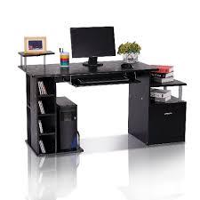 best buy computer table homcom wood computer desk with drawer shelves black desks