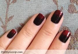 black x red nails sponge gradient nail tutorial pretty gossip