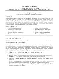 Contractor Resume Sample by 6 1 Page Project Management Resume Examples Cashier Resumes