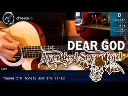 tutorial gitar dear god como tocar dear god avenged sevenfold en guitarra acustica hd