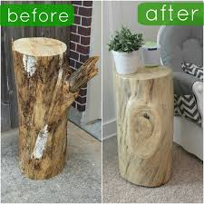 How To Make A Wood Stump End Table by Fun With The Fullwoods Diy Tree Trunk Table Home Sweet Home