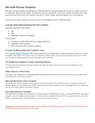 Job Resume Template Microsoft Word Microsoft Work Resume Template Resume Peppapp