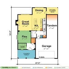 garage office plans house plans with pocket offices design basics